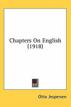 Hardcover Chapters On English (1918) Book