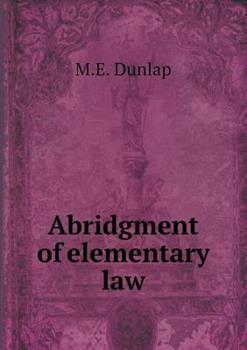 Paperback Abridgment of Elementary Law Book