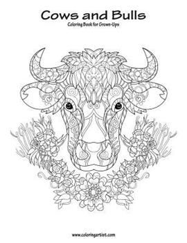 Paperback Cows and Bulls Coloring Book for Grown-Ups 1 [Large Print] Book