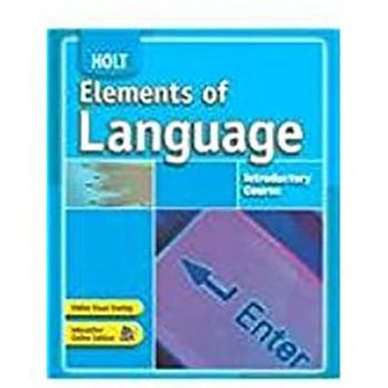 Elements of Language: Introductory Course 0030796776 Book Cover