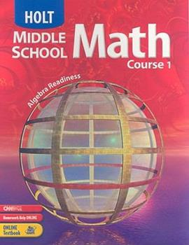 Holt Middle School Math: Course 1: Virginia Edition 0030923158 Book Cover