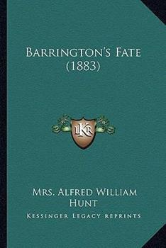 Paperback Barrington's Fate Book