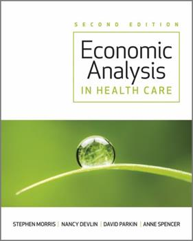 Economic Analysis in Health Care 1119951496 Book Cover
