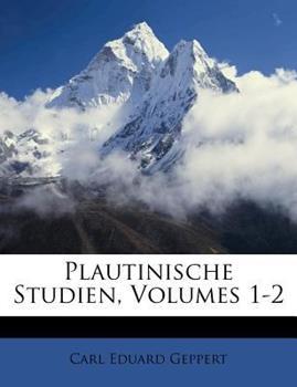 Paperback Plautinische Studien Book