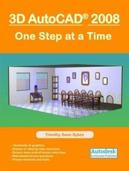 Paperback 3D AutoCAD 2008: One Step at a Time Book