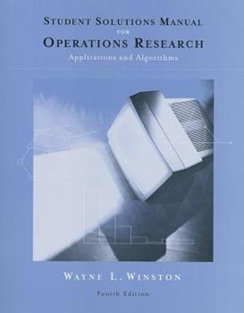 Solutions CD-ROM for Student Solutions Manual for Winston's Operations Research: Applications and Algorithms, 4th 0534423604 Book Cover