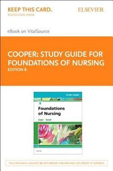 Printed Access Code Study Guide for Foundations of Nursing - Elsevier eBook on VitalSource (Retail Access Card) Book