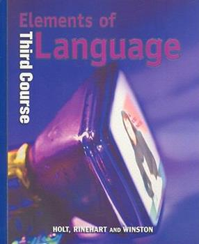 Elements of Language: Third Course 0030520037 Book Cover
