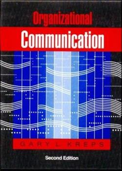 Organizational communication: Theory and practice 0801301556 Book Cover