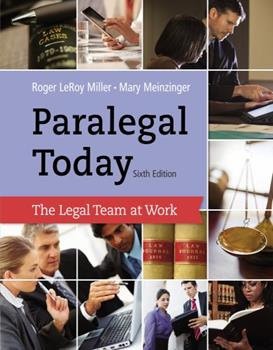 West's Paralegal Today: The Legal Team At Work 1418050326 Book Cover