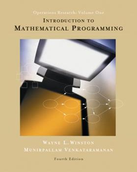 Introduction to Mathematical Programming: Applications and Algorithms, Volume 1 (with CD-ROM and InfoTrac) 0534925200 Book Cover
