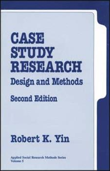Paperback Case Study Research: Design and Methods (Applied Social Research Methods) Book