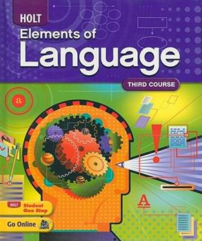 Elements of Language, Third Course 0030941954 Book Cover