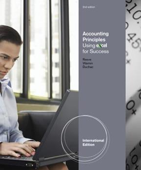 Accounting Principles Using Excel for Success 1111821356 Book Cover
