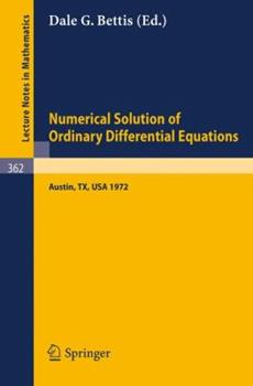Paperback Proceedings of the Conference on the Numerical Solution of Ordinary Differential Equations: 19, 20 October 1972, the University of Texas at Austin Book