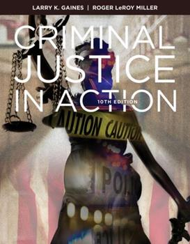 Criminal Justice in Action 0840029195 Book Cover
