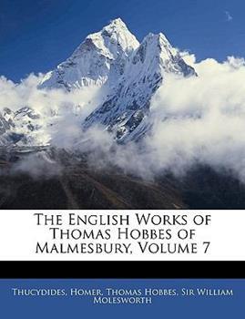 Paperback The English Works of Thomas Hobbes of Malmesbury Book