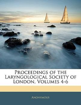 Paperback Proceedings of the Laryngological Society of London Book