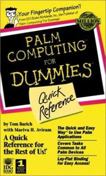 Paperback Palm Computing? For Dummies? Quick Reference Book