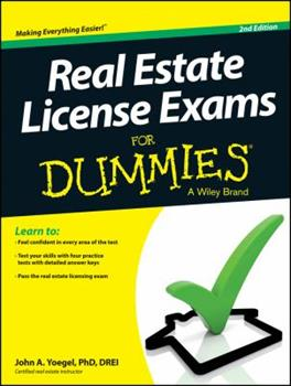 Paperback Real Estate License Exams for Dummies Book