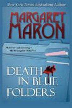 Death in Blue Folders 0385198086 Book Cover