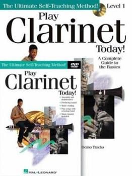 Paperback Play Clarinet Today! Beginner's Pack: Book/Online Audio/DVD Pack Book