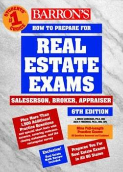 Paperback How to Prepare for Real Estate Examinations Book