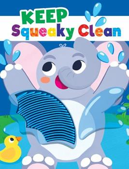 Board book Keep Squeaky Clean - Silicone Touch and Feel Board Book - Sensory Board Book