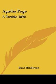 Paperback Agatha Page : A Parable (1889) Book