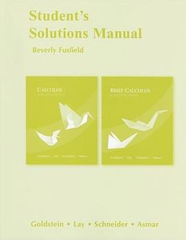 Student Solutions Manual for Calculus and Its Applications 0321599012 Book Cover