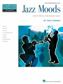 Paperback Jazz Moods - Eight Pieces for Piano Solo: Hal Leonard Student Piano Library Composer Showcase Level 5 Book