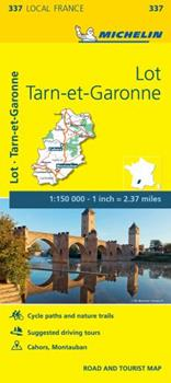Map Michelin France: Lot, Tarn-Et-Garonne Map 337 Book