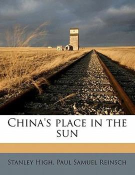 Paperback China's Place in the Sun Book