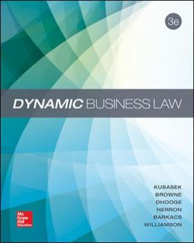 Dynamic Business Law 0073524913 Book Cover