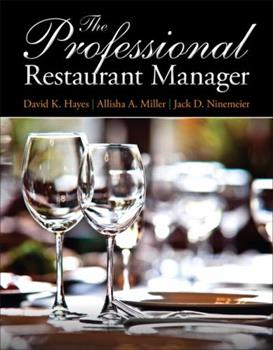 The Professional Restaurant Manager 0132739925 Book Cover