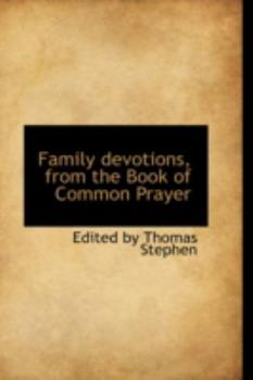 Paperback Family Devotions, from the Book of Common Prayer Book