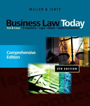 Business Law 0324120958 Book Cover