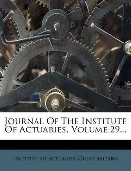 Paperback Journal of the Institute of Actuaries Book