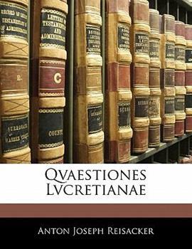 Paperback Qvaestiones Lvcretianae Book
