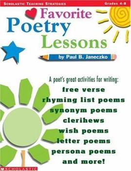 Favorite Poetry Lessons (Grades 4-8) 0590996185 Book Cover