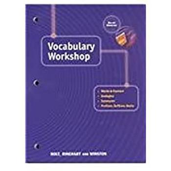 Vocabulary Workshop: Sixth Course (Elements of Language) 0030562961 Book Cover