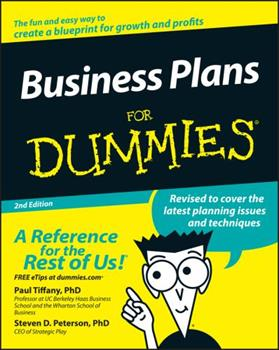 Business Plans For Dummies 1568848684 Book Cover