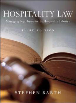 Hospitalty Law: Managing Legal Issues in the Hospitality Industry 0471464252 Book Cover