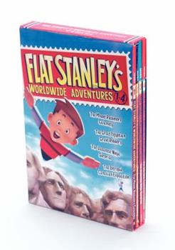 Flat Stanley's Worldwide Adventures 4-Book Collection: The Mount Rushmore Calamity, The Great Egyptian Grave Robbery, The Japanese Ninja Surprise, The Intrepid Canadian Expedition 0062365932 Book Cover