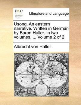 Paperback Usong an Eastern Narrative Written in German by Baron Haller In Book