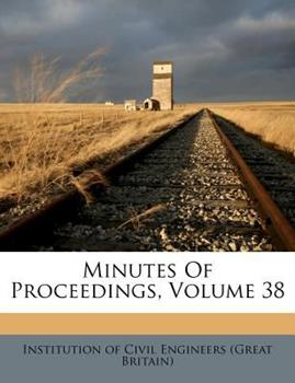 Paperback Minutes of Proceedings Book