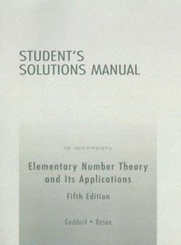 Student's Solutions Manual to Accompany Elementary Number Theory and Its Applications 0321268407 Book Cover