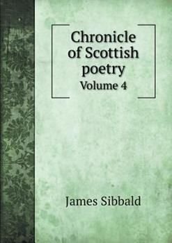 Paperback Chronicle of Scottish Poetry Volume 4 Book