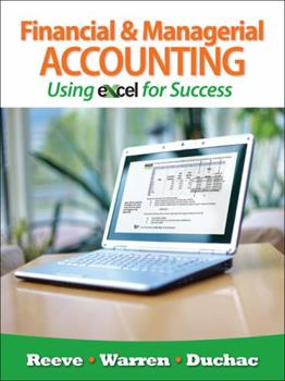 Financial and Managerial Accounting Using Excel for Success (with Essential Resources: Excel Tutorials Printed Access Card) 1111535221 Book Cover