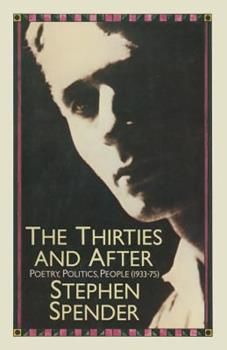 The 30's and After: Poetry, Politics, People, 1930's-1970's 1349042390 Book Cover